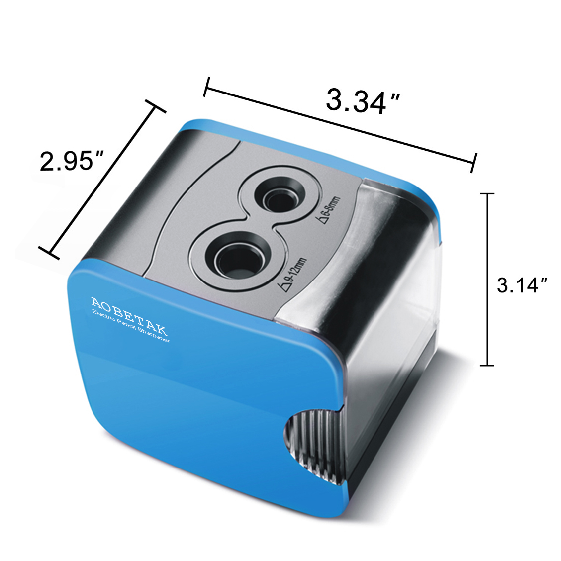 Electric Pencil Sharpeners with Container, USB and Battery Operated, Heavy Duty Electronic Automatic Pencil Sharpener For Colored Pencil and No.2 by AOBETAK