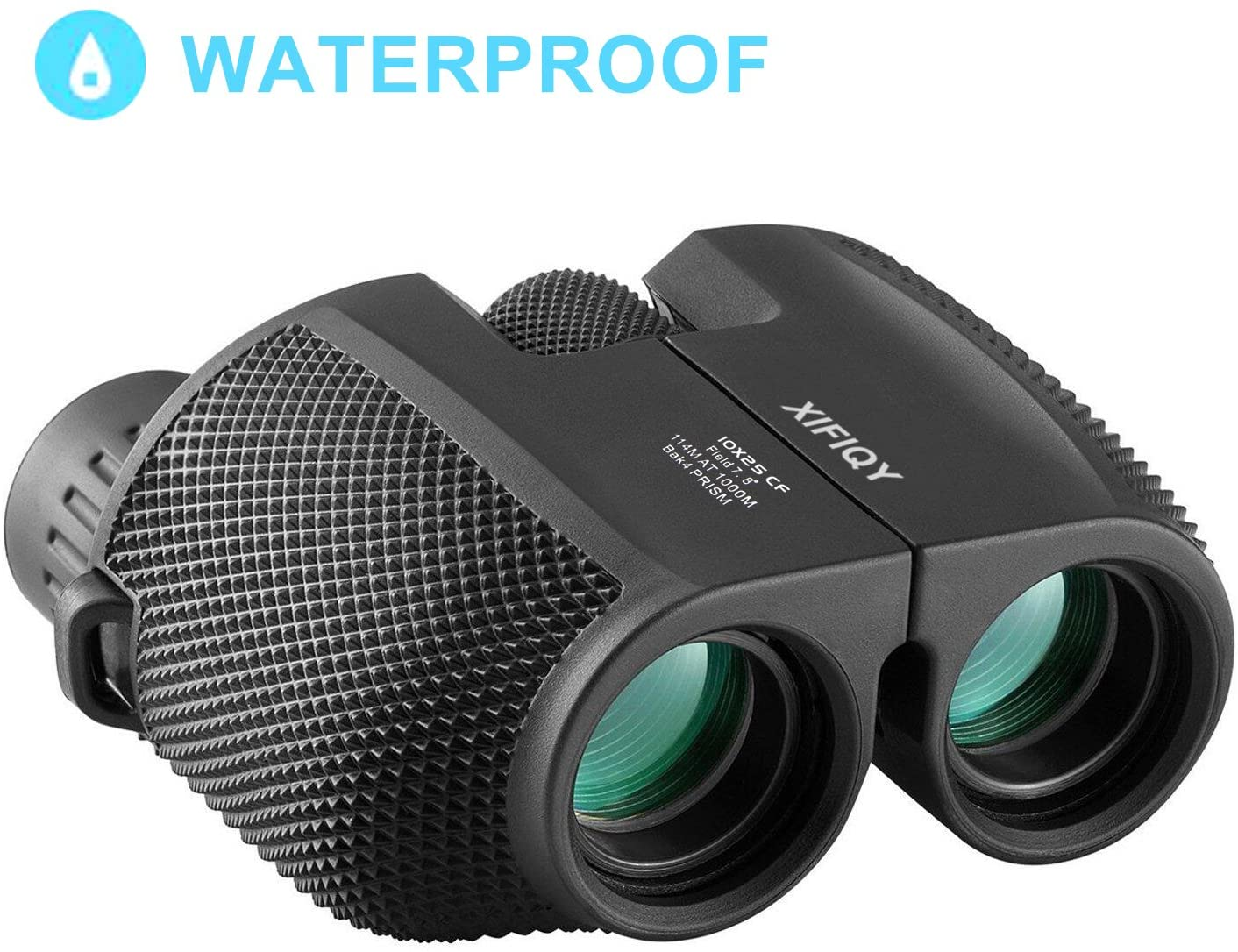 AOBETAK Compact Binoculars for Adults, 10x25 Pocket Size Mini Waterproof Binoculars with Powerful Folding, Small Lightweight Telescope with Cleaning Cloth and Carry Case for Adults Kids Bird Watching