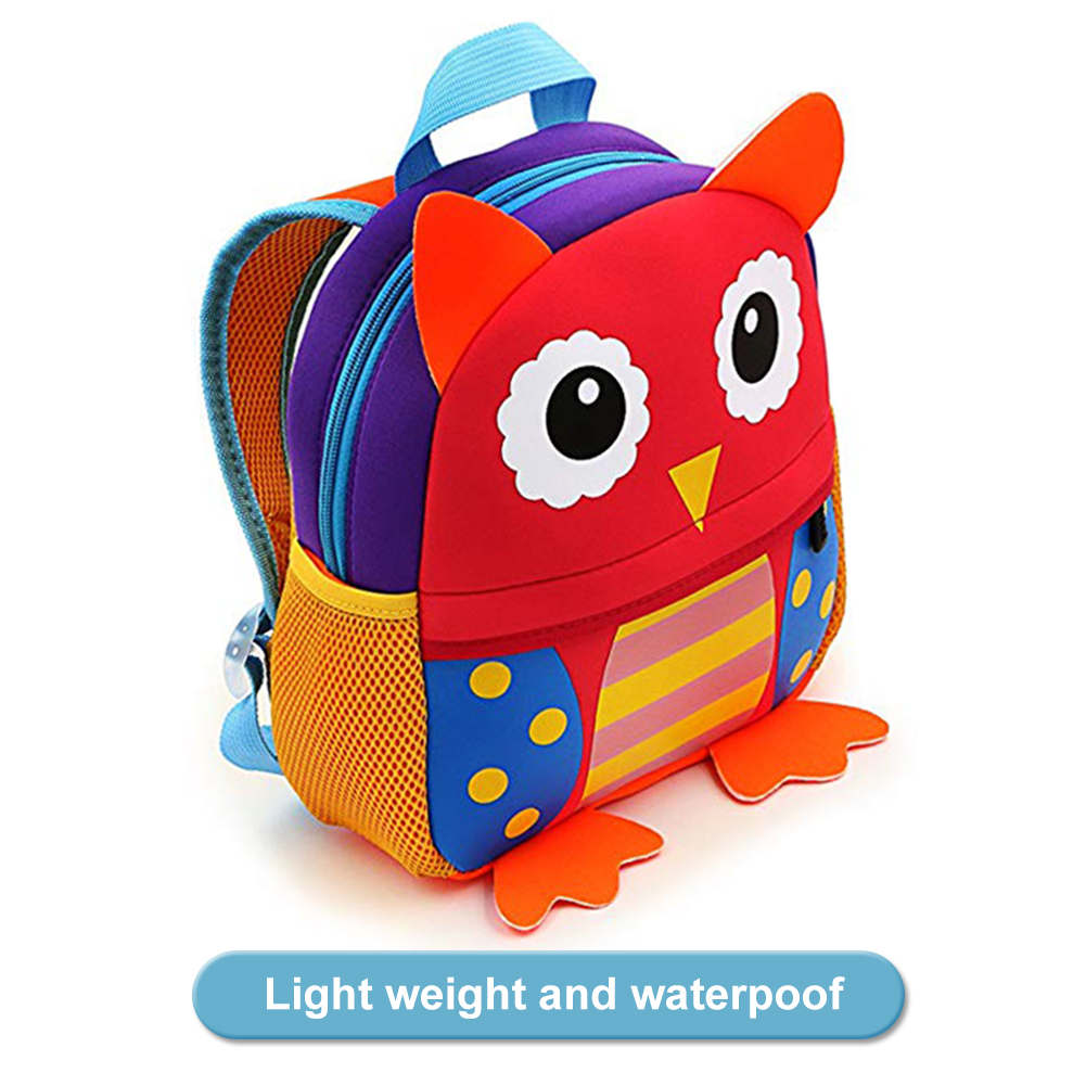 Toddler Backpack for Boys and Girls, AOBETAK Cute Animal Design Small School Bags, Greate Present & Gifts Little Rucksack for Kids Childrens Boys Girls 2-7 Year Old (Red owl)